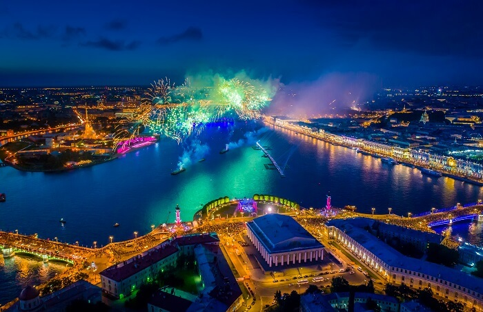 White nights festival, Saint Petersburg