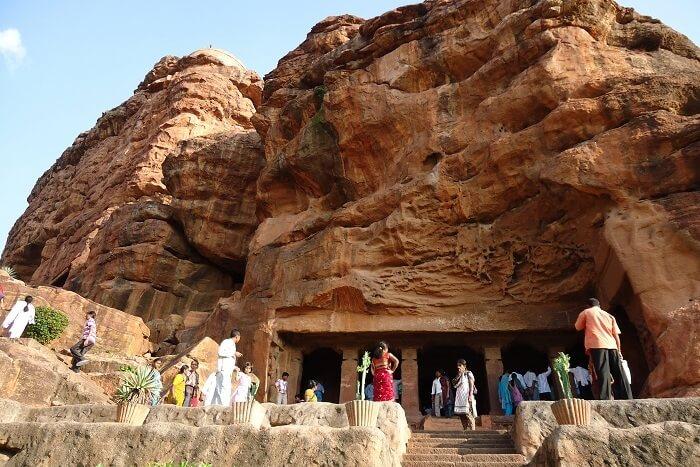 Badami Cave Temple, Bagalkot