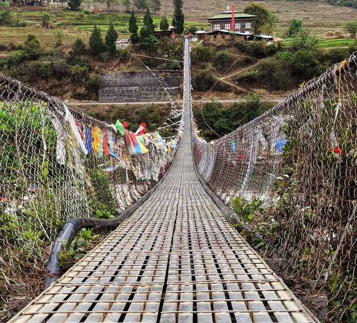 Suspension Bridge in Punakha