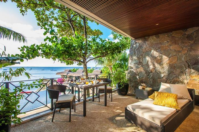 Balcony view of the resort