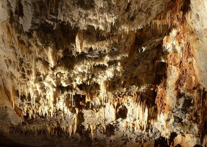 stalactites in cave