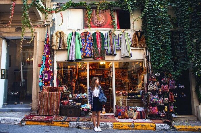 Cukurcuma Street, Istanbul turkey