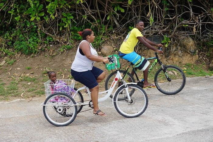 tushar seychelles honeymoon trip: cycling