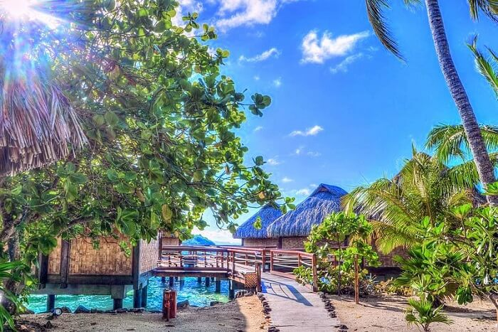 Experience the rural life of Vaitape Village bora bora
