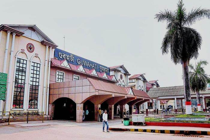 Entrance to Guwahati railway Station