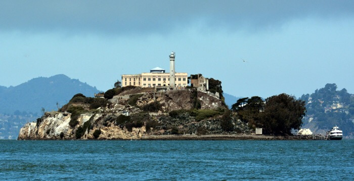 Go to the Alcatraz Island at night