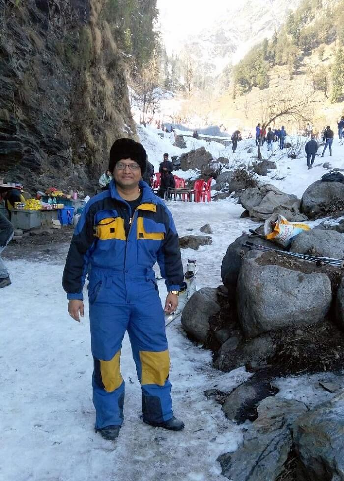 kuldeep manali honeymoon trip: kuldeep at solang