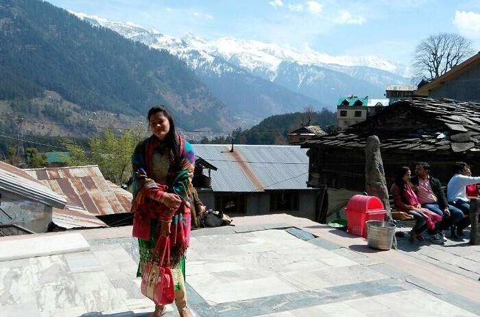 kuldeep manali honeymoon trip: outside vashisht temple