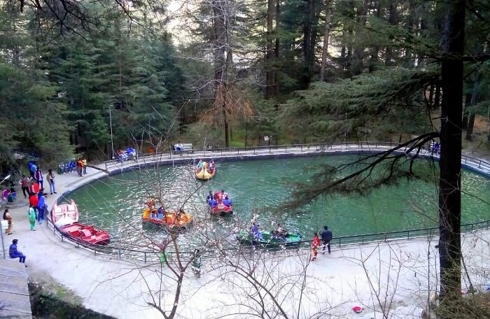 kuldeep manali honeymoon trip: boating in van vihar