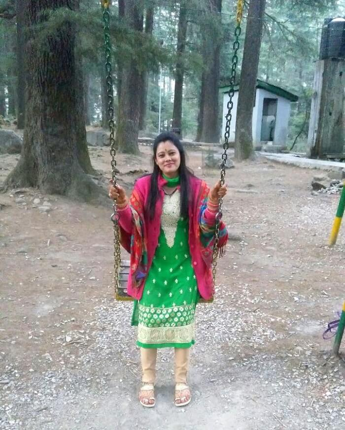 kuldeep manali honeymoon trip: swing in van vihar