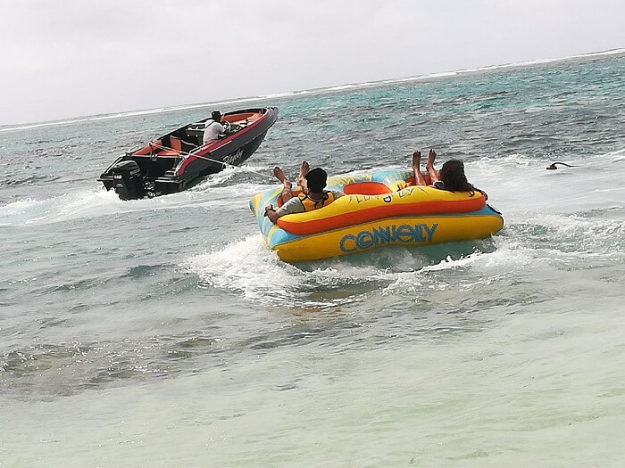 watersports at ile aux cerfs