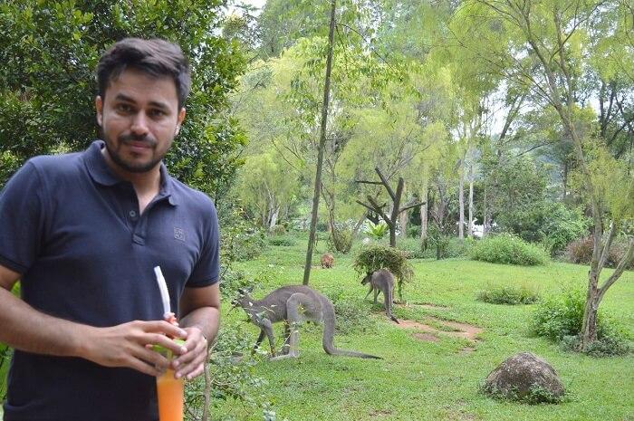 anshu singapore trip: in zoo
