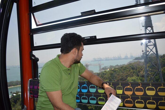 anshu singapore trip: cable car