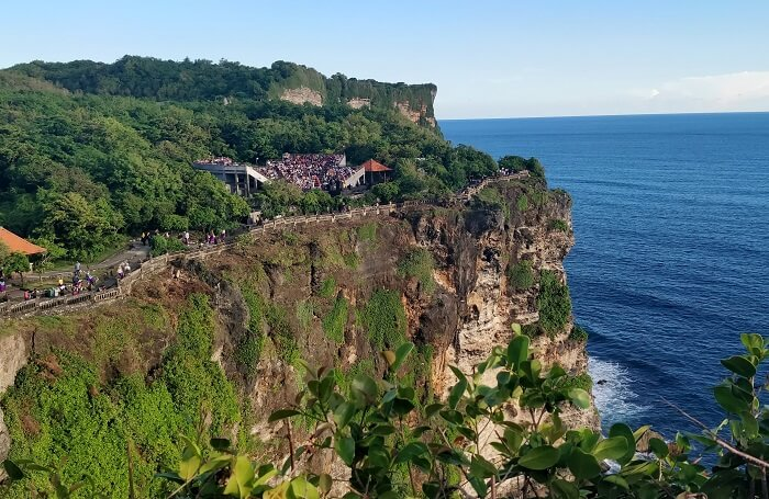 view of sea near uluwatu temple