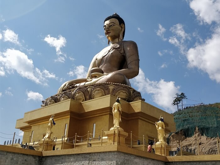 Huge Buddha statue in Bhutan