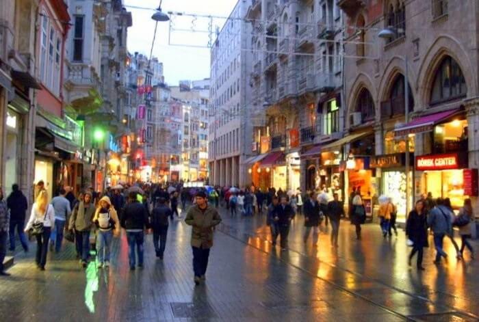 Istiklal Caddesi, Istanbul turkey