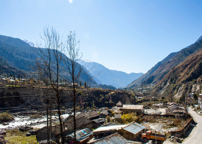 view of lachung town