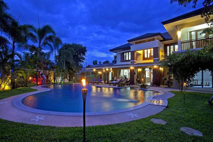 a gorgeous outdoor pool of Lanna Karuehaad Villa