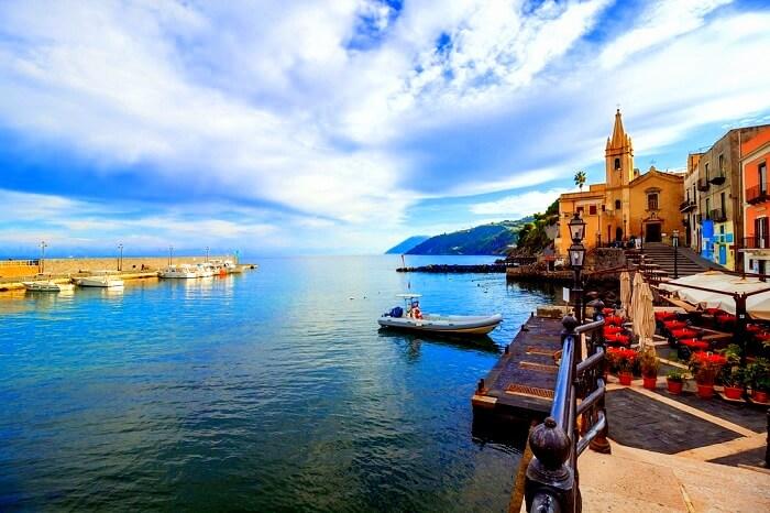 Lipari island in Italy