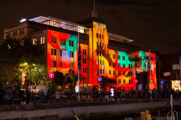 Museum of Contemporary Art during Vivid Sydney