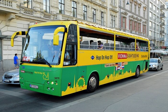 Ride the Hop On Hop Off bus in vienna