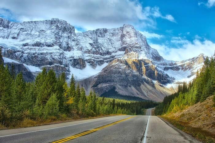 Clear road to Banff