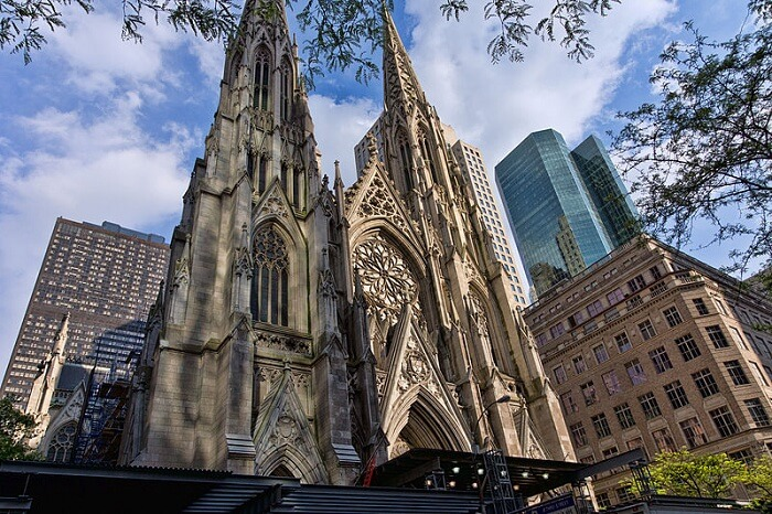 St. Patrick's Cathedral is a beautiful neo-Gothic style structure