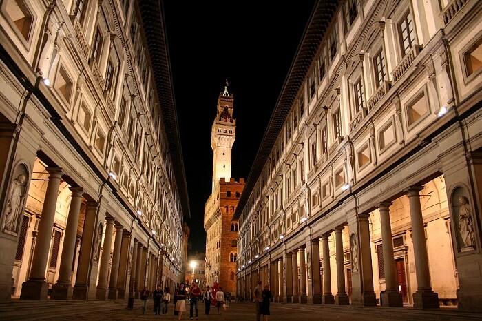 Outside view of Uffizi