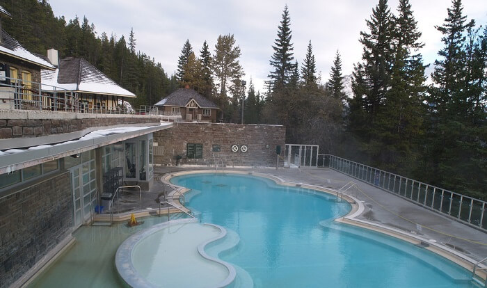 Upper hot springs at Banff