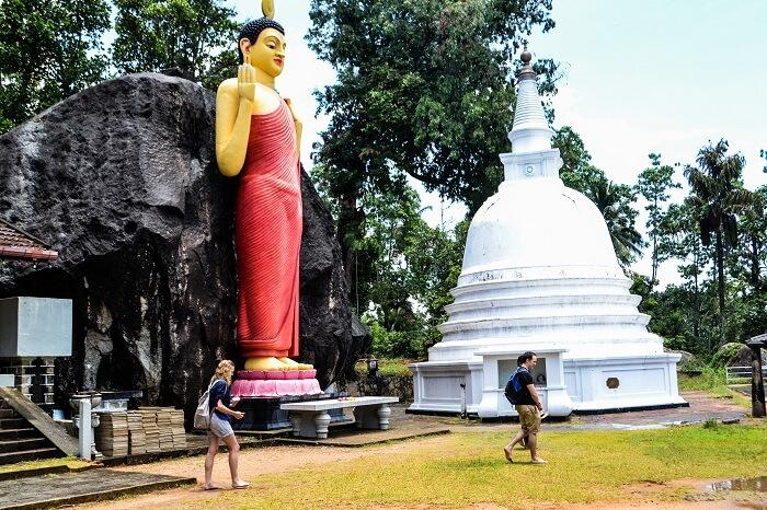 beautiful Buddhist rock temple
