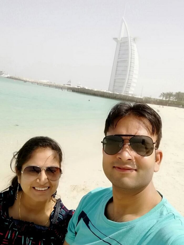 ashish singhal dubai honeymoon trip: burj al arab