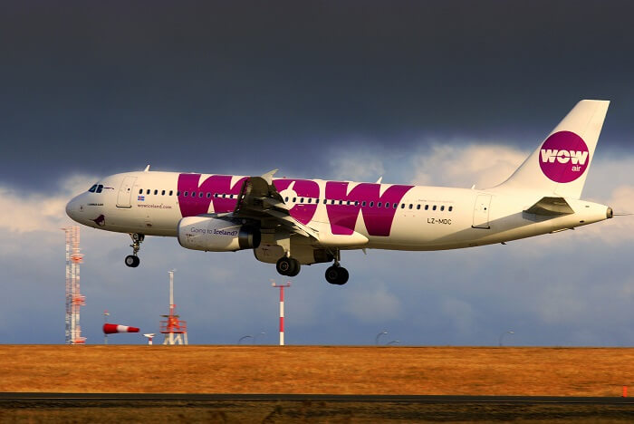 wow air flight from india to US