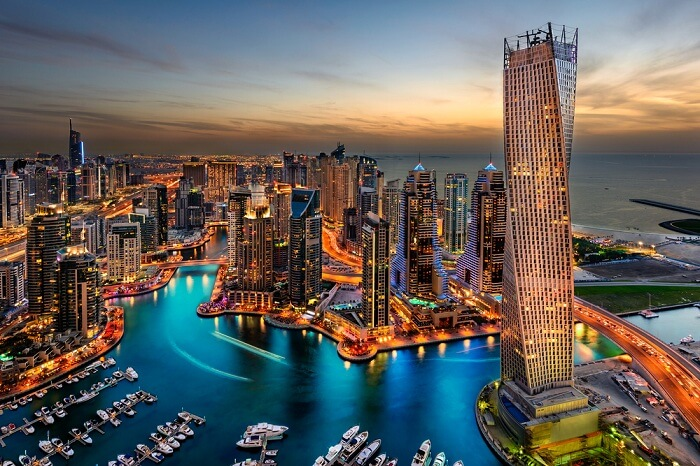 view of dubai city