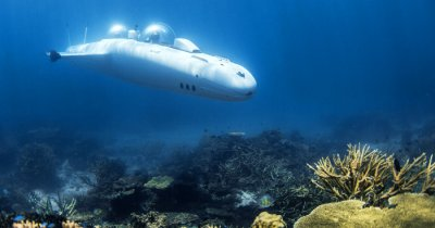 a submarine underwater