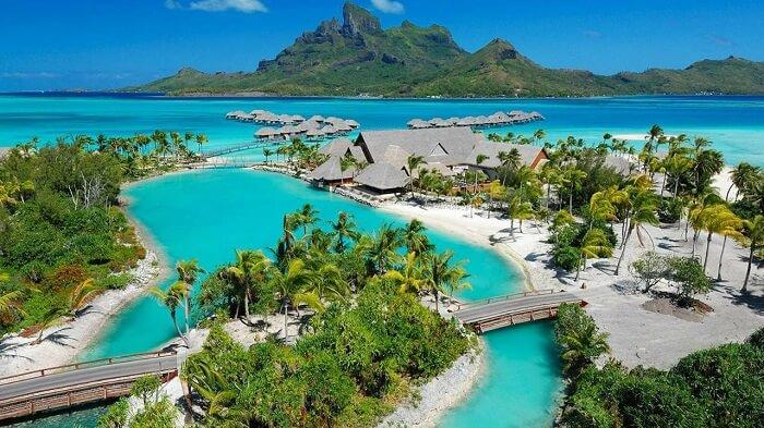 breathtaking view of resort
