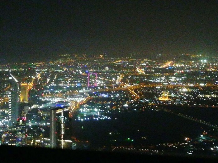ashish singhal dubai honeymoon trip: dubai cityy view from burj khalifa