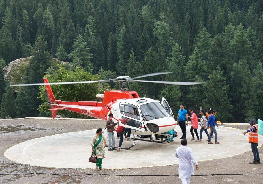 a chopper in the hills