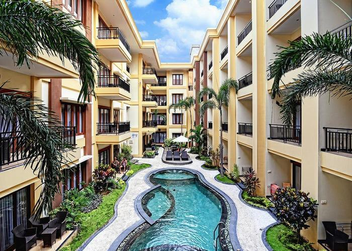swimming pool at Kuta Apartments