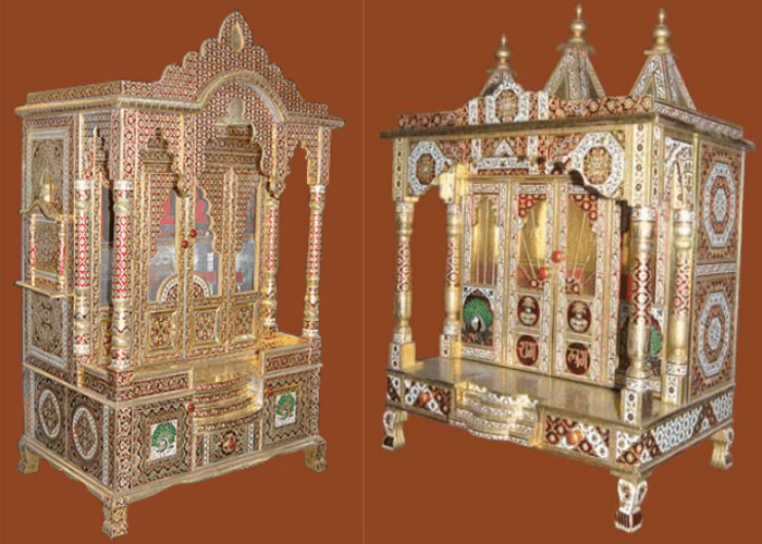 meenakari brass temples