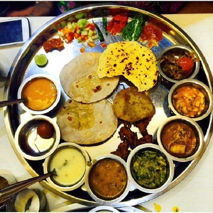 a delicious Gujarati meal