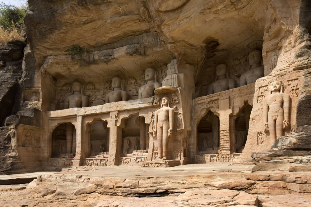 a cave temple inside Gwalior Fort