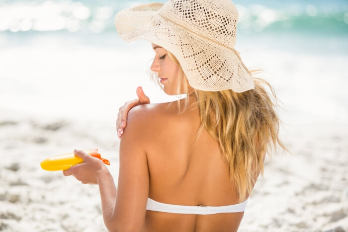 sunscreen at the beach