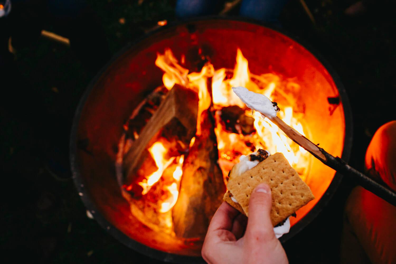 campfire in Gorumara National Park