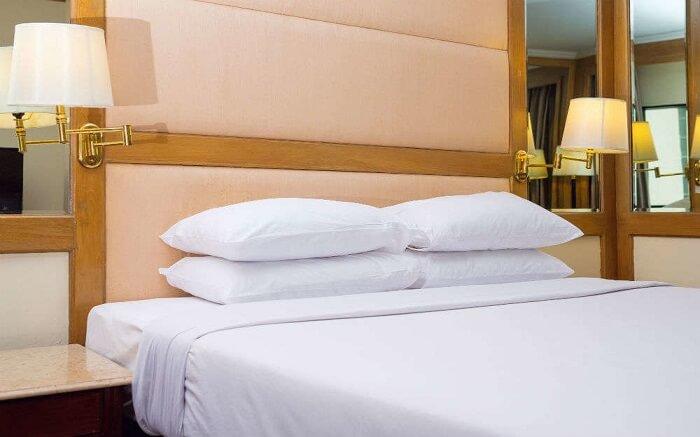 A luxurious room of Kadmat Island Beach Resort
