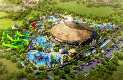 Cartoon network water park in Bali