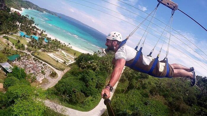 Experience the Zipline Boracay in Philippines