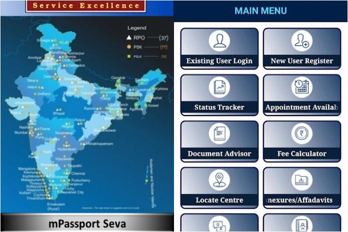 seva paasport app