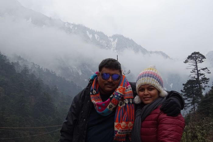 gaurav with his wife