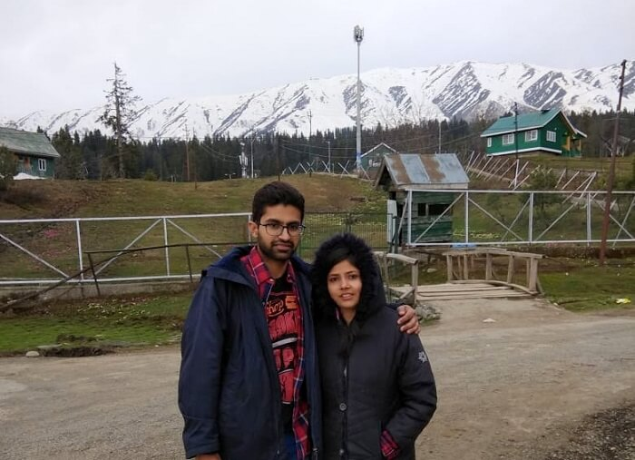 couple in gulmarg