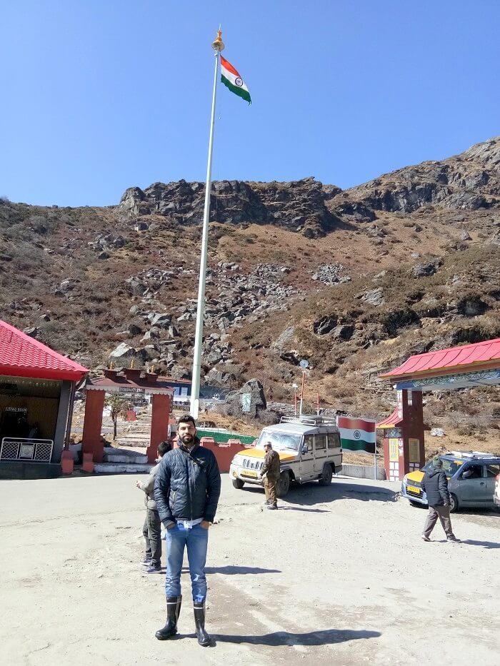 In Nathu La Pass Sikkim